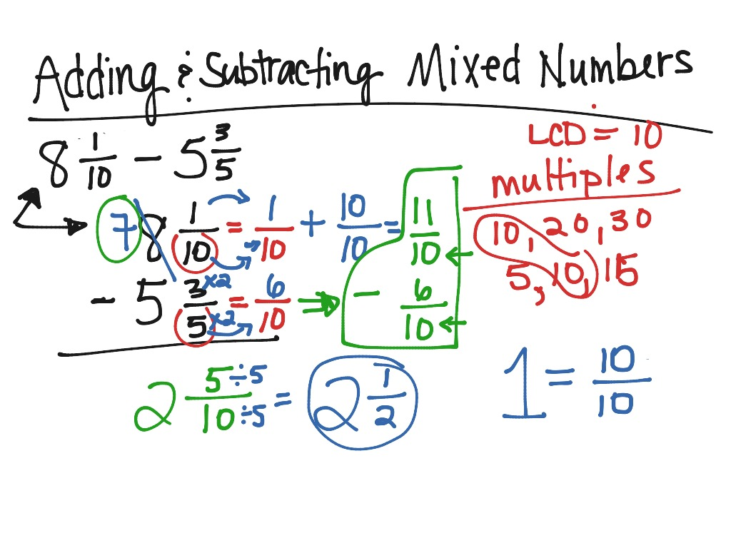 Worksheet Subtract Mixed Fractions showme butterfly method with mixed fractions adding subtracting numbers